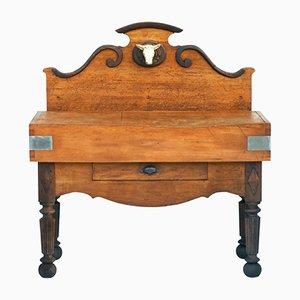 Mesa de carnicero francesa antigua