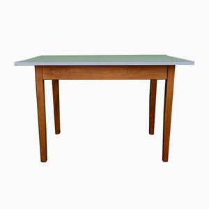 Bistro Table in White & Heather Formica, 1950s