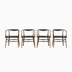Esszimmerstühle von Lawrence Peabody für Richardson Nemschoff, 1950er, 4er Set