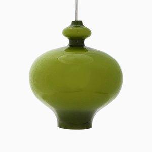 Lámpara colgante Mid-Century de vidrio opalino de Hans-Agne Jakobsson, años 60