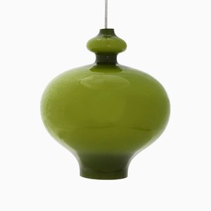 Mid-Century Opaline Glass Pendant Light by Hans-Agne Jakobsson, 1960s