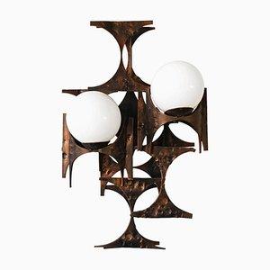 Große brutalistische Wandlampe von Marc Weinstein, 1960er