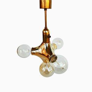 Lampe à Suspension Sputnik en Laiton, Italie, 1970s