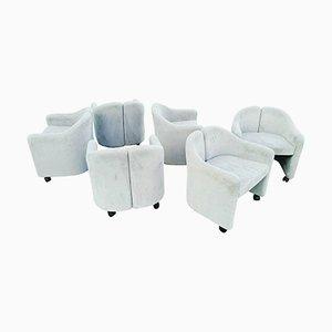 Italienische 142 Stühle von Eugenio Gerli, 1970er, 6er Set