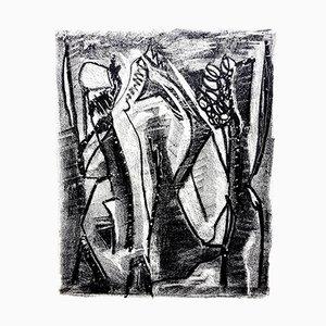 Kafka Lithografie von Jean-Michel Atlan, 1946