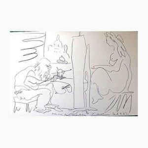 Litografia Painter and the Model di Pablo Picasso, 1962