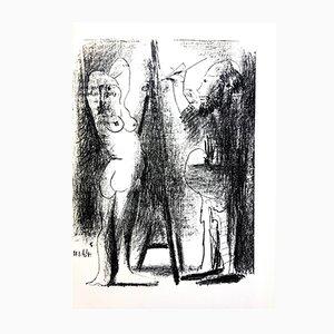 Litografia Painter and His Model di Pablo Picasso, 1964