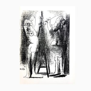 Painter and His Model Lithograph by Pablo Picasso, 1964