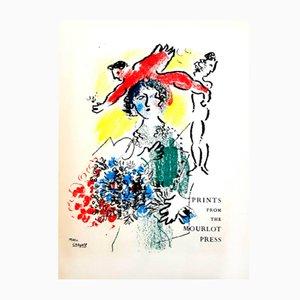 Litografía original Marc Chagall - Cover - 1964