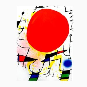 Litografia astratta di Joan Miro, 1981