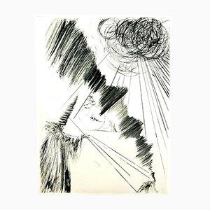 Acquaforte Magician di Salvador Dali, 1969