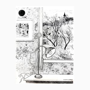 Gravure à l'Eau-Forte Dreamy Desk par Jacques Maret, 1946
