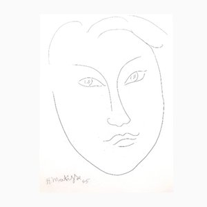 Gravure à l'Eau-Forte Jeune Homme par Henri Matisse, 1946