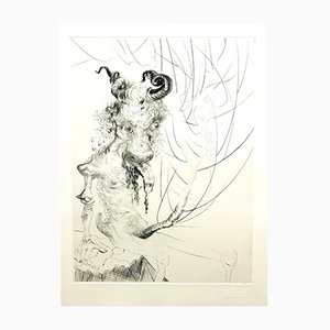 Head of Veal Etching by Salvador Dali, 1969