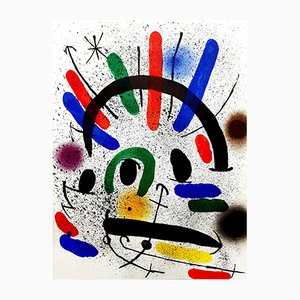 Abstract Lithograph by Joan Miro, 1981