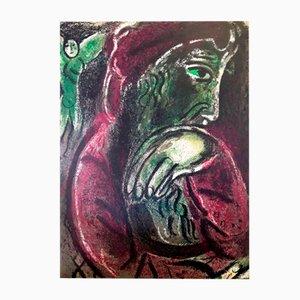 Litografía Job de Marc Chagall, 1960