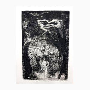 Acquaforte Magic Jungle di Edouard Goerg, 1946