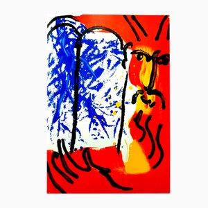 Litografía Colorful Tablets of Stone de Marc Chagall, 1956