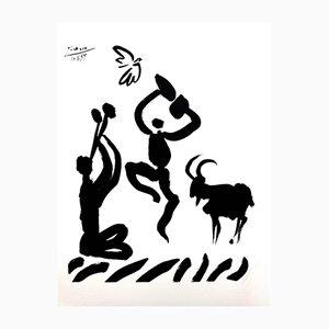 Flötenspieler Lithographie von Pablo Picasso, 1959
