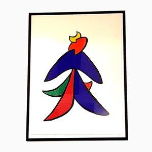 Litografía Behind the Mirror de Alexander Calder, 1976