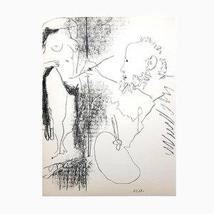 Lithographie Le Peintre et son Modèle par Pablo Picasso, 1964