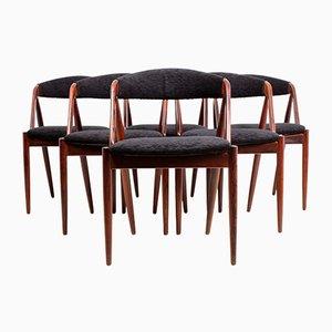 Sedie modello 31 di Kai Kristiansen per Schoe Anderson, anni '60, set di 6