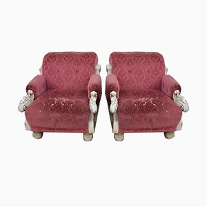 Pink Armchairs from Harrods, 1980s, Set of 2