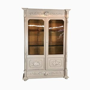 Antique French Oak Display Bookcase