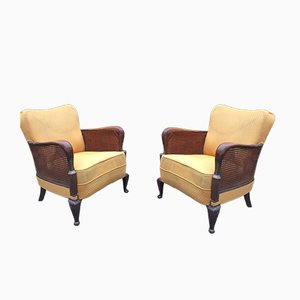 Mid-Century Club Chairs, Set of 2