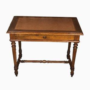 Scrivania o tavolo antico in legno di noce