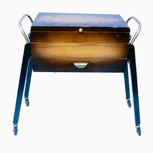 Mid-Century Wooden Sewing Trolley, 1960s