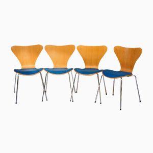 Chaises Série 7 Vintage par Arne Jacobsen pour Fritz Hansen, Set de 4