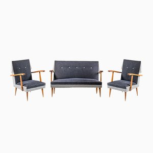 Mid-Century Sofa & 2 Armchairs