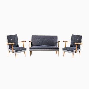 Mid-Century Sofa und 2 Sessel