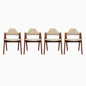 Mid-Century Compass Chairs von Kai Kristiansen für Schou Andersen, 4er Set
