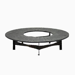 Table Basse Circulaire par Pia Manu, 1970s