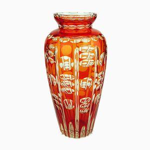 Vaso Aurore Art Deco viennese di Val Saint Lambert, anni '20