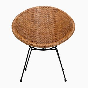 Rattan Side Chair by Dirk Van Sliedrecht, 1950s