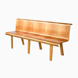 Large Plywood Bench, 1950s