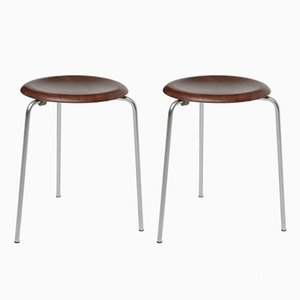 Dot Stacking Stools by Arne Jacobsen for Fritz Hansen, 1950s, Set of 2