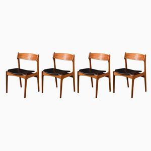 Chaises par Eric Buch pour O.D. Møbler, 1950s, Set de 4