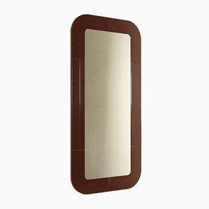 Espejo de pared italiano con marco de plástico de Anna Castelli Ferrieri para Kartell, años 60
