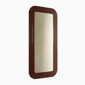 Italian Wall Mirror with Plastic Frame by Anna Castelli Ferrieri for Kartell, 1960s