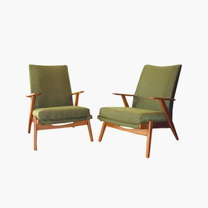 Britische P 802 Armlehnstühle von Parker Knoll, 1960er, 2er Set