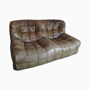 Vintage Kashima Leather Sofa by Michel Ducaroy for Ligne Roset