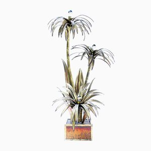 Palm Tree Floor Lamp from Maison Jansen, 1970s
