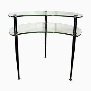 Mesa de centro con dos repisas de Edoardo Paoli para Vitrex, años 50