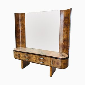 Art Deco French Console with Mirror, 1930s
