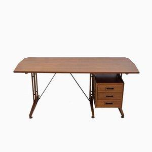Italienischer Schreibtisch aus Teak & lackiertem Metall, 1960er