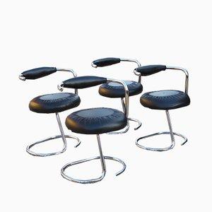 Italienische Esszimmerstühle von Giotto Stoppino für Saporiti Italia, 1970er, 4er Set